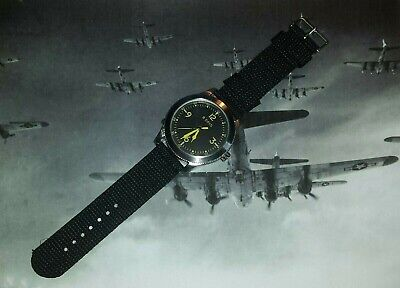 £25 • Buy A World War 2 US Air Force Bomber/Fighter Cockpit Style Quartz Watch. Brand New