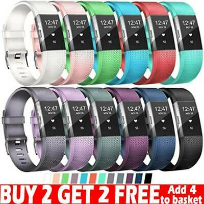AU9.98 • Buy FOR Fitbit CHARGE 2 Replacement Silicone Rubber Band Strap Wristband Bracelet AU