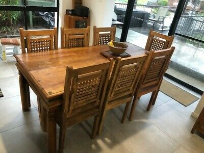 AU195 • Buy Dining Tables And 7 Chairs Used Wood - Kitchen Table, Chairs Dining, Colonial