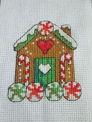 £1.49 • Buy Finished Cross Stitch Piece - Gingerbread House