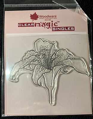 £2.50 • Buy Woodware Clear Magic JGS152 'Singles' Stamp-Lily 7.5cm X 10cm
