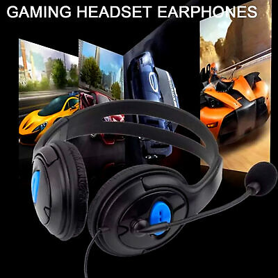 $ CDN16.26 • Buy Gamer Headphones With Microphone For PS4 PC 3.5 Mm Jack Wired Earphone