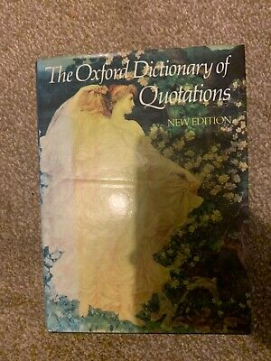 £5.99 • Buy Oxford Dictionary Of Quotations By JA Simpson (Hardback 1979) Antiquary Antique