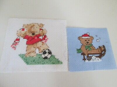 £1.99 • Buy Finished Cross Stitch Pieces - Bears