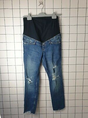 £5 • Buy Maternity Jeans Size 14 Over Bump From H&M