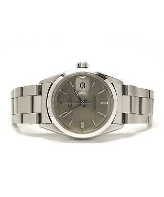 $ CDN2828.64 • Buy Vintage Mens Rolex 1970s Datejust In Stainless Steel Watch With Gray Dial 36mm