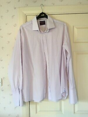 """£10 • Buy M&S Sartorial Pink Check Shirt Size 18.5"""" 47 In Excellent Condition"""