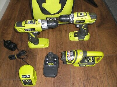 £56 • Buy RYOBI 18v ONE+ HAMMER DRILL & DRILL/DRIVER & TORCH SET *ALL FULLY WORKING*