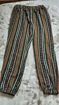 £0.99 • Buy Size M/12 Harem Wide Legged Patterned Striped Summer Trousers