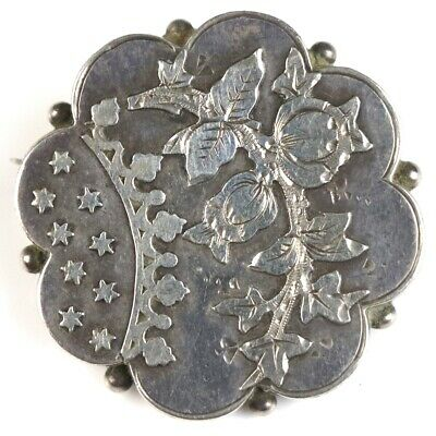 £6.50 • Buy A Very Nice Antique Victorian Fully Hallmarked Sterling Silver Aesthetic Brooch