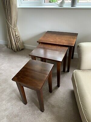 £50 • Buy NEXT Oak Dark Stained Nest Of Tables - Staffordshire