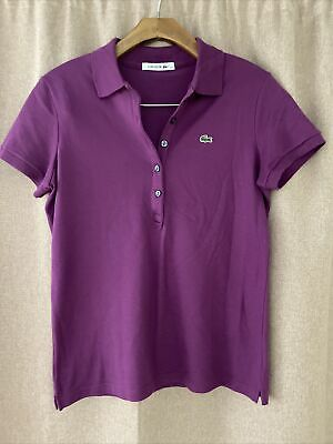 £2.90 • Buy Vintage Lacoste Polo Shirt Purple Size 40 Uk 10-12 Immaculate Condition