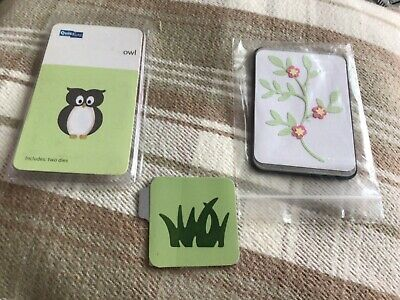 £1.50 • Buy 2 Sizzix And 1 Quickutz Dies ~~ Grass, Branch W/Leaves & Flower And Owl