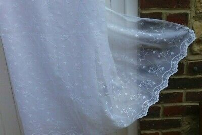 £4.99 • Buy 4ms X DUNELM Anais Embroidered Floral Voile Lace Net Fabric 42   Drop RRP £24.40