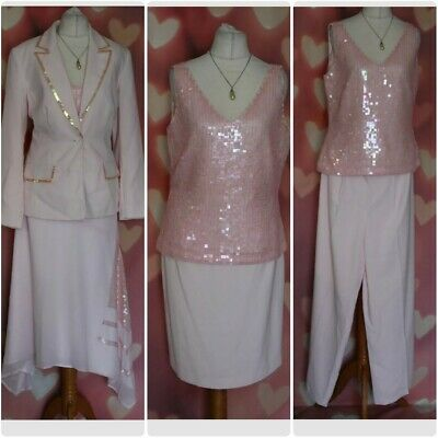 £15 • Buy Together Pale Pink 5 Pieces Skirt / Trouser Suit Set Size UK 12