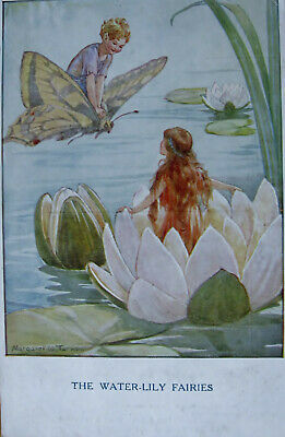 £1 • Buy     A Vintage Colour Postcard. By Margaret Tarrant. The Waterlily Fairies.