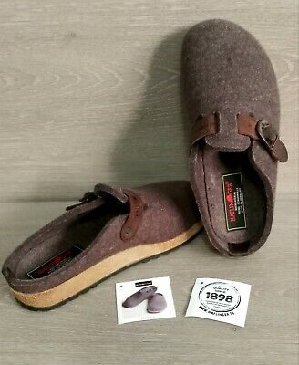 £32.54 • Buy Haflinger Gray Wool Clog Slippers Slip On Shoes Women's Size 38 - US 7 Leather