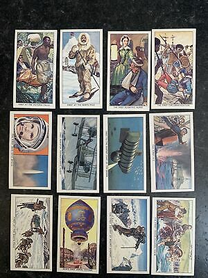 £2 • Buy KELLOGG LTD - FAMOUS FIRSTS - 1963 - FULL SET 12 Cereal Trade Cards