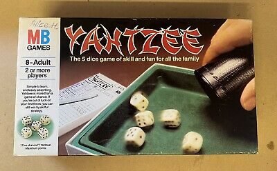 £8.99 • Buy Vintage Yahtzee Dice Game-mb Games 1985-almost Complete No Pens Included