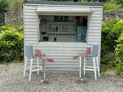 £549 • Buy Wooden Garden Bar Shed Bar 8ft By 6ft Outdoor Bar Plus Stools