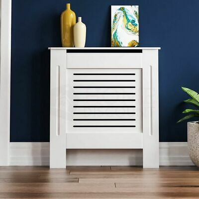 £27.95 • Buy SALE Radiator Cover Modern White Small Cabinet MDF Painted Wood Grill