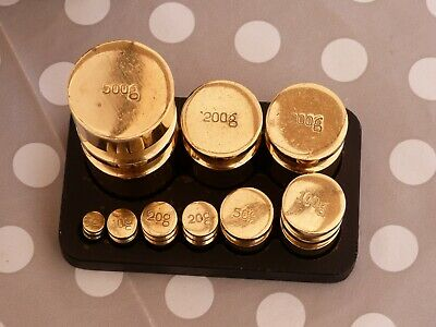 £19.99 • Buy 9 Piece Set Of Victor Brass Metric Churn Weights With Cast Iron Stand