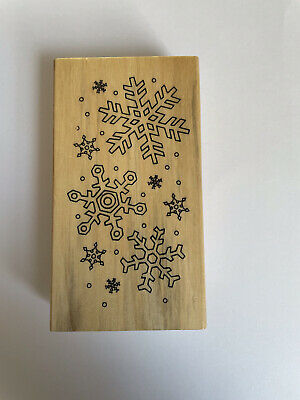 £2.20 • Buy Christmas Wooden Stamp - Snowflakes