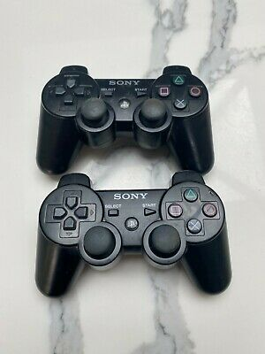 £15 • Buy 2x Official Genuine PS3 Wireless Controller Black SIXAXIS Dualshock 3