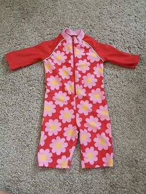 £3.49 • Buy Girls MOTHERCARE Floral UV Sun Protection/Swim/Beach All-in-One Suit Age 18-24m