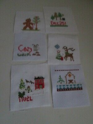 £1.99 • Buy Finished Cross Stitch Pieces - 6 Christmas Themed