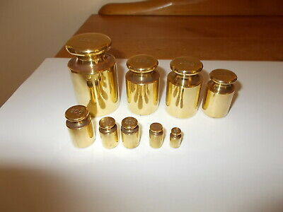 £34.99 • Buy  Vintage Brass  Capstan  Shaped Metric Scale  Weights X  9