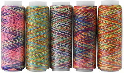 $16.69 • Buy Machine Embroidery Thread Multicolor Thread Set 5 Spools Of Polyester Thread