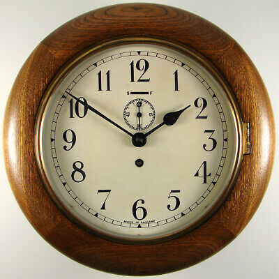 £195 • Buy SMITHS EMPIRE Small 8 Day Oak Cased Wall Clock, 8  Dial With Sub-seconds, 1958