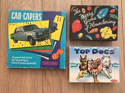 £11.99 • Buy 2 X VINTAGE SPEARS GAMES, FLOUNDERING AND CAR-CAPERS + TOP DOGS CARD GAME 2005