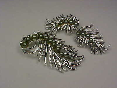 $7 • Buy Vintage Sarah Coventry  Feather Fantasy  (1959) Brooch & Earrings Set