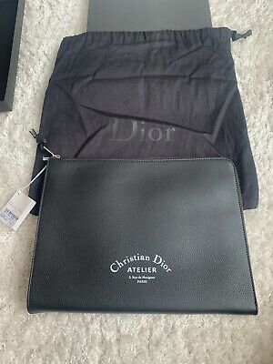 $698.78 • Buy Christian Dior Black Leather Document Case Brand New With Tags