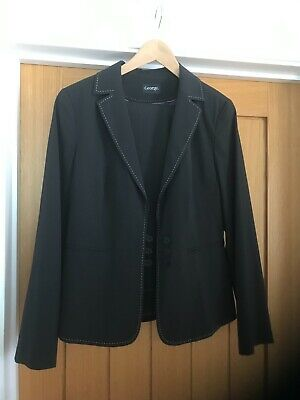 £25 • Buy George Women's Dark Grey Suit Trousers Size 14L And Jacket Size 14R - NWOT