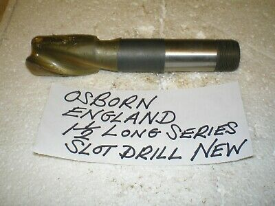 $34.67 • Buy Slot Drill Osborn 1 1/2 In Diameter  Engineers Tooling Milling Cutters End Mill
