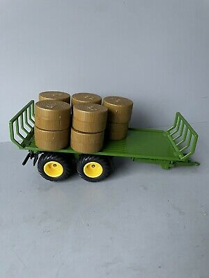 £19.99 • Buy BRUSHWOOD TOYS 2891 Siku Round Bale Trailer With 10 Bales Rare See Pictures