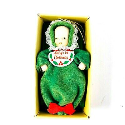 $ CDN25.11 • Buy  Vintage Russ Baby's 1st Christmas Ornament Country Antique Ornaments BX 2028