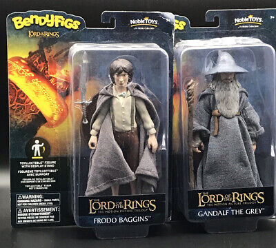 £14.25 • Buy Lord Of The Rings Gandalf And Frodo 7  Figures Bundle Bendable Bendyfigs