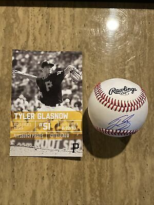 $ CDN62.93 • Buy GLASNOW Signed Autographed BASEBALL MLB Pirates Charities Item. Rookie Year.