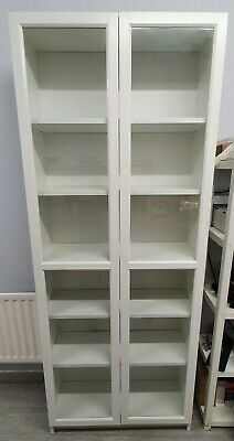 £49.99 • Buy Ikea Billy Bookcase (White) With Oxberg Glass Doors