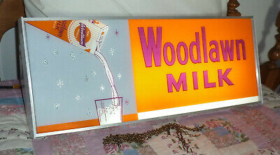 $499.95 • Buy 50's WOODLAWN MILK MOTION SIGN