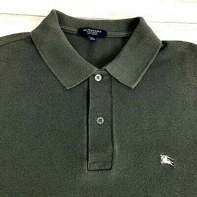 $32.77 • Buy Burberry London Men's Short Sleeve Casual Polo Shirt Great Britain Green Small