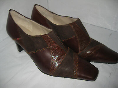 $ CDN17.31 • Buy Lotus Womens Brown Leather Ankle Shoes/Heels Size UK 5.5