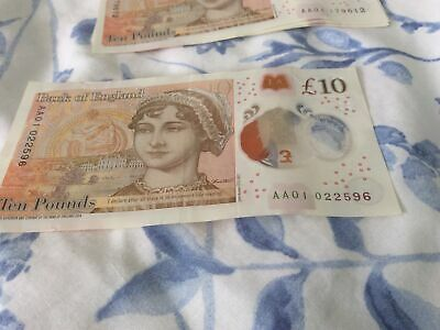 £19.99 • Buy AA01 Circulated £10 Ten Pound Note Polymer Early Serial Number