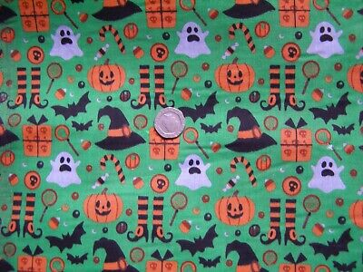 £1.50 • Buy Material/Fabric Scrap/Piece - Halloween Green Witchy - 10  X 20  - Sewing/Craft
