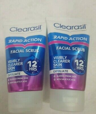 £14.44 • Buy 2x Clearasil Ultra Rapid Action Daily Spot Fighting Face Scrub 125ml..
