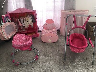 £39.99 • Buy 💕Baby Annabell Bundle, Changer Clothes Cot Build A Bear Wardrobe And Others 💕
